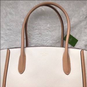 Late Spade large White Tote